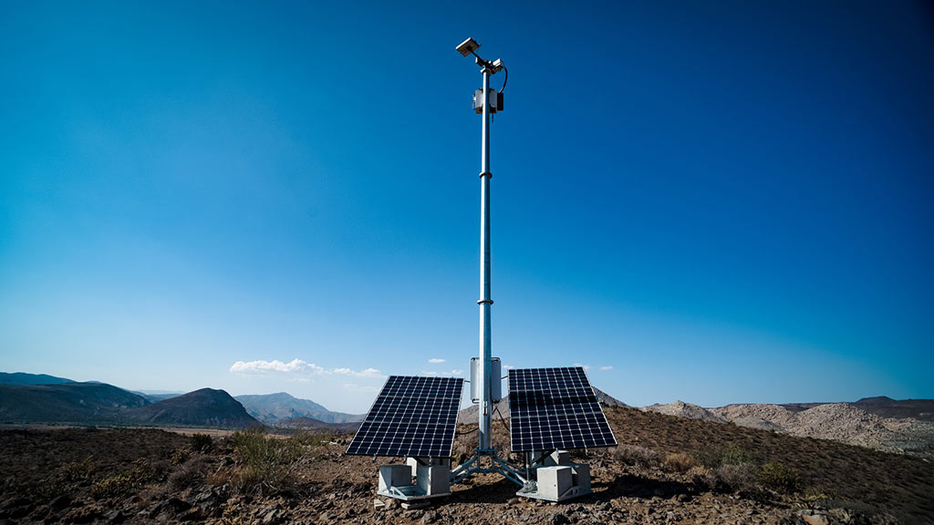 Industrial solar light pole, temporary solar lighting