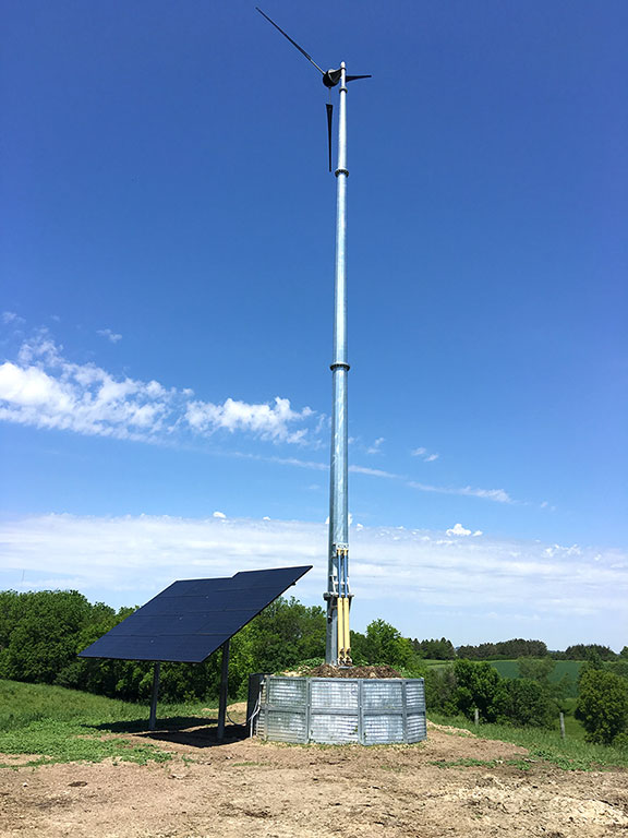 Renewable energy solutions for off-grid locations. Wind turbines, solar hybrid towers systems. Solar panels, solar lighting.