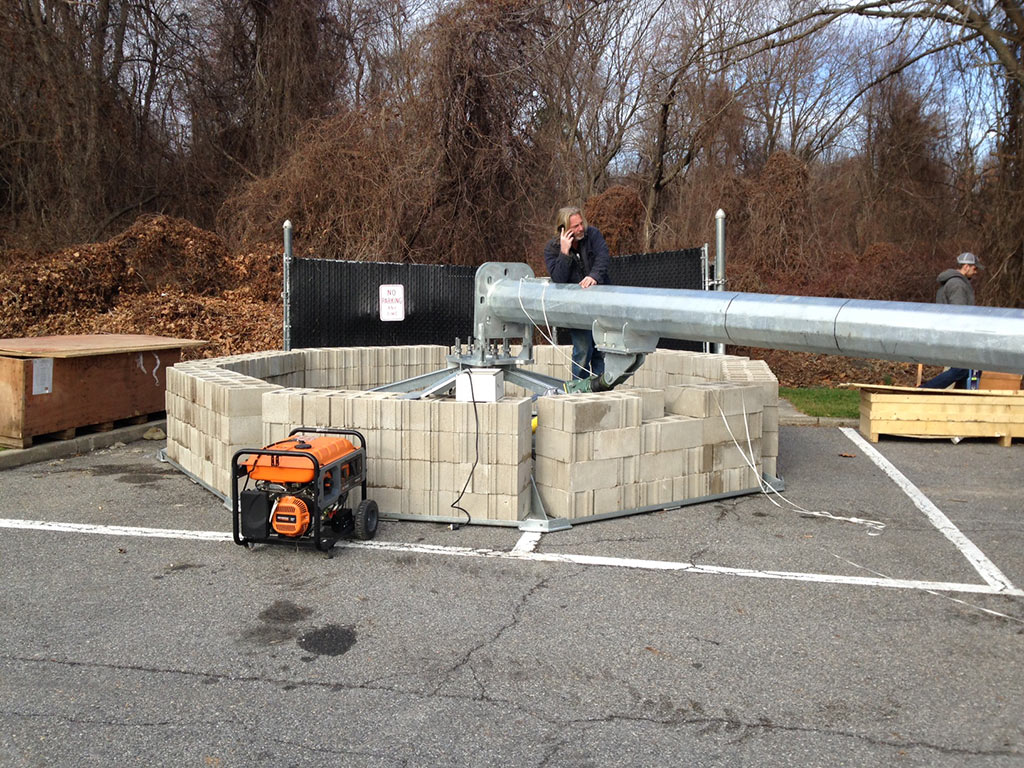 Elmsford, New York - ATT tower installation - AFS 500